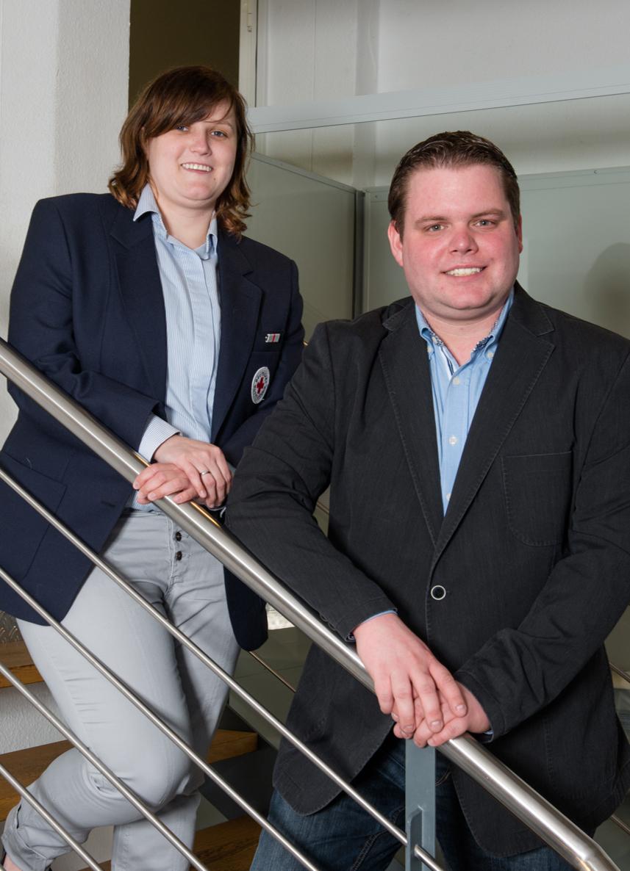vlnr: JRK-Leiterin Nancy Thielscher, JRK-Leiter Andre Kintrup (Aufnahme vom 05.04.2016)
